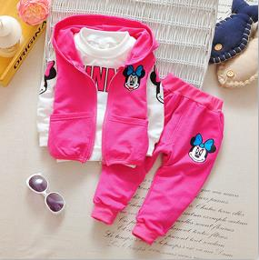 Girls Minnie Mouse 3 Pcs Sets