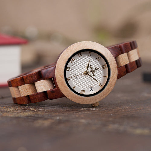 Rose Sandal Wood Women Watch