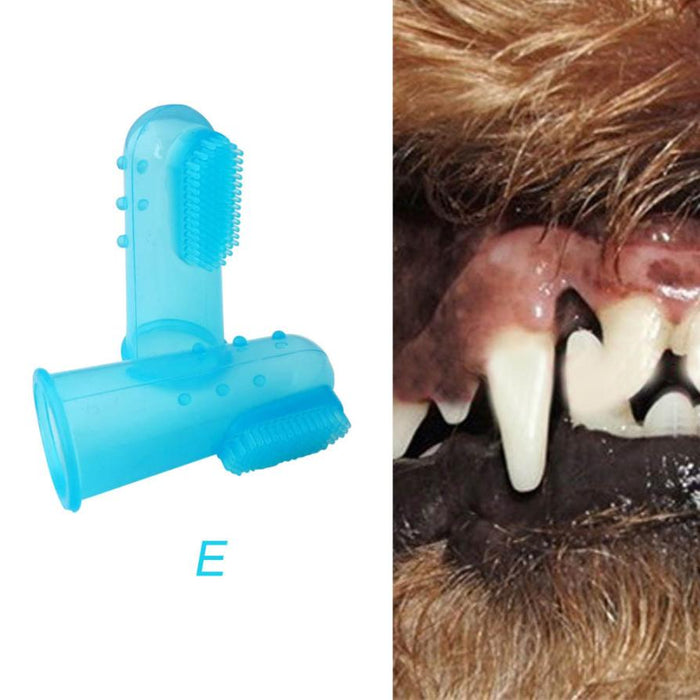 Super Soft Pet Finger Toothbrush Teddy Dog Brush Bad Breath Tartar Teeth Tool T117