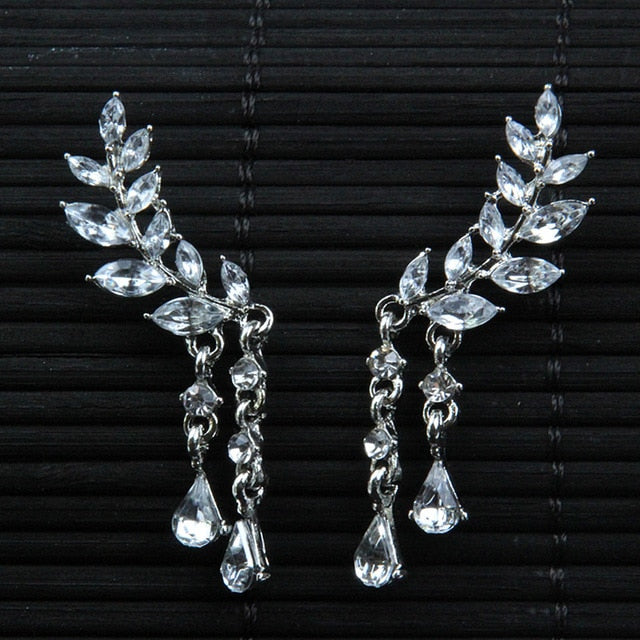 Women's Angel Wings Stud Earrings Rhinestone Inlaid Alloy