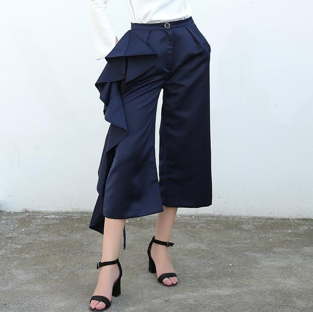 Women Ruffle Trousers