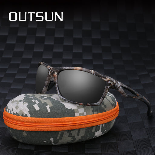 Men's Polarized Camo Sunglasses with Camouflage Case