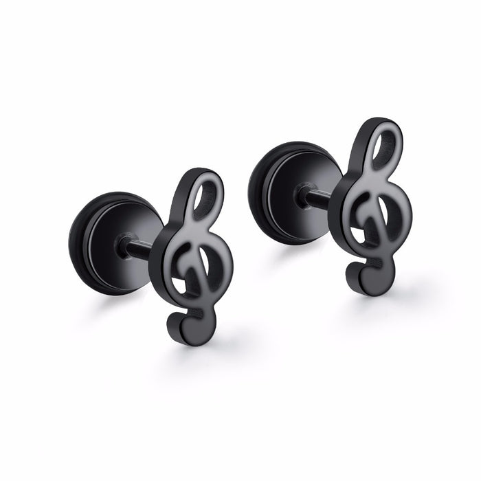 Music Note Stud Earring