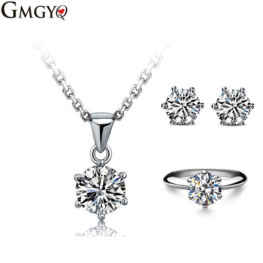 Six Point CZ Jewelry Sets