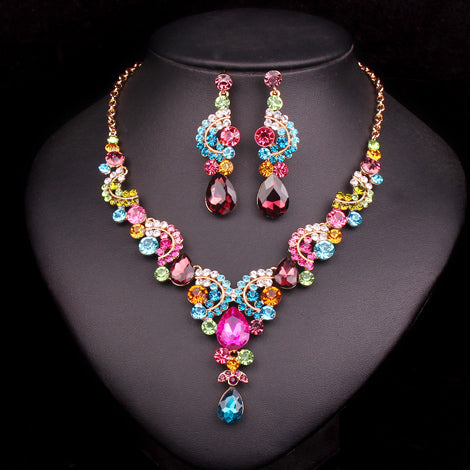 Necklace EarringsCrystal Jewelry Sets