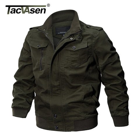 TACVASEN Military Jacket Men Winter Cotton Jacket Coat Army Men's Pilot Jacket Air Force Autumn Casual Cargo Jaqueta TD-QZQQ-009