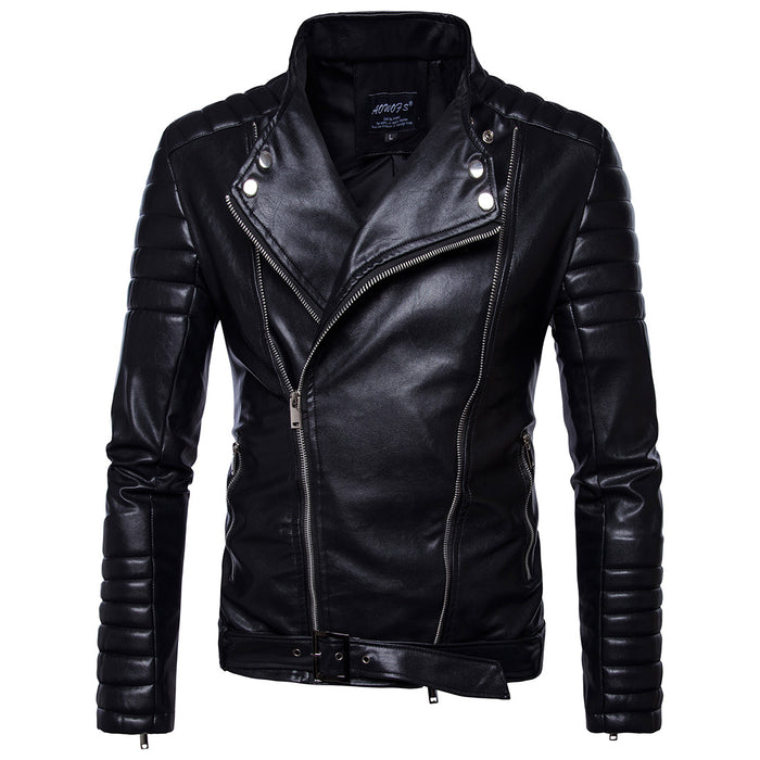 Slim Faux Leather Biker Jacket