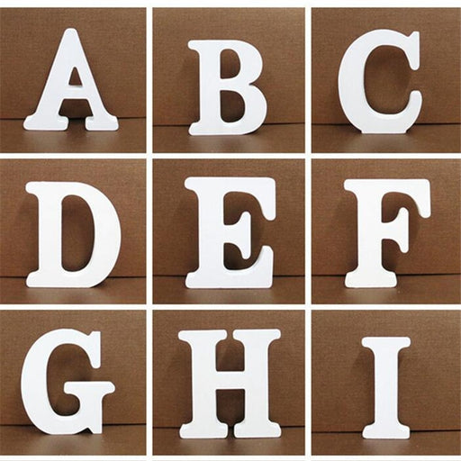 1pc White Wooden Letter - Home Decor