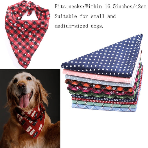 Dog Bandanas Reversible Scarf