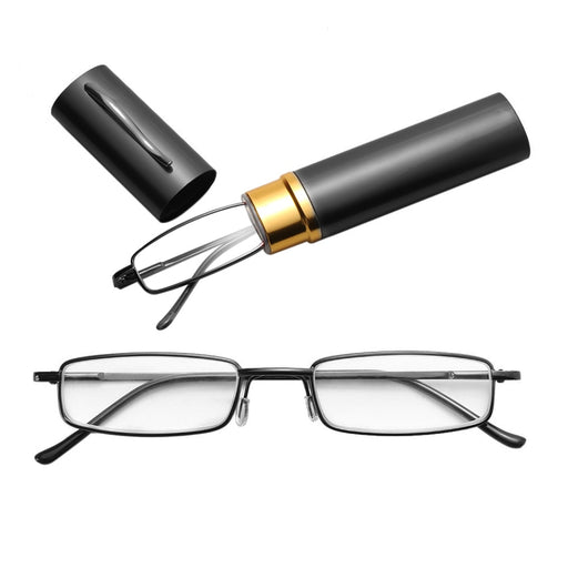 Reading Glasses With Tube Case