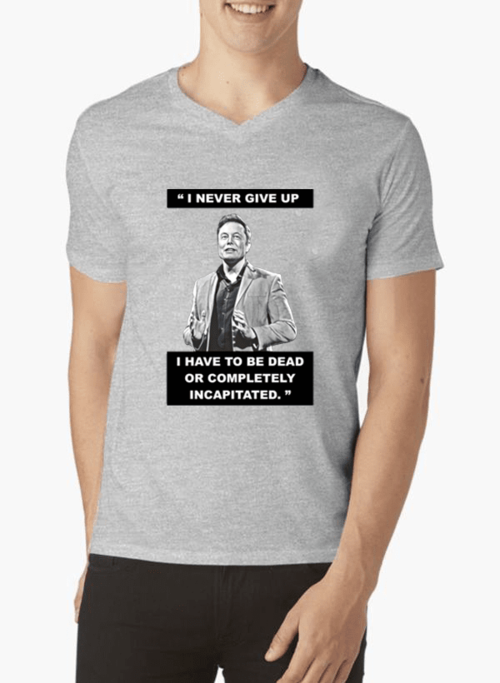 I Never Give Up T-shirt