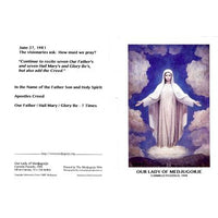 Peace Chaplet Prayer Card