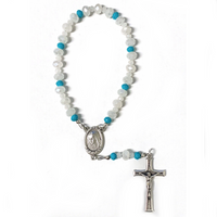 White & Blue Crystal Peace Chaplet