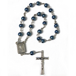 Blue Pearl Peace Chaplet