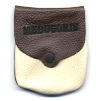 Leather Medjugorje Snap Rosary Pouch