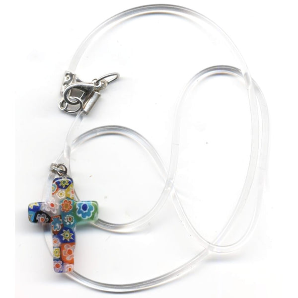 Murano Glass Cross Necklace