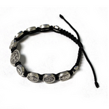 Communion of Saints Corded Bracelet with St. Benedict Medal