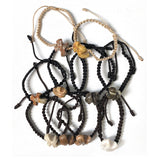 Handcrafted Rock Cross Corded Bracelet