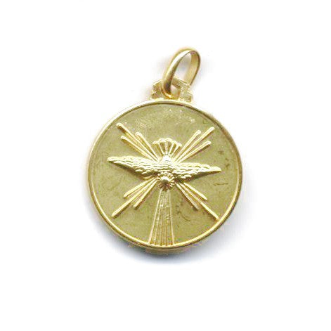Holy Spirit Medal in 14K Gold