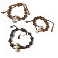 Handcrafted Rock and Leather Bracelet