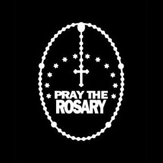Pray the Rosary ShapeCut Car Decal