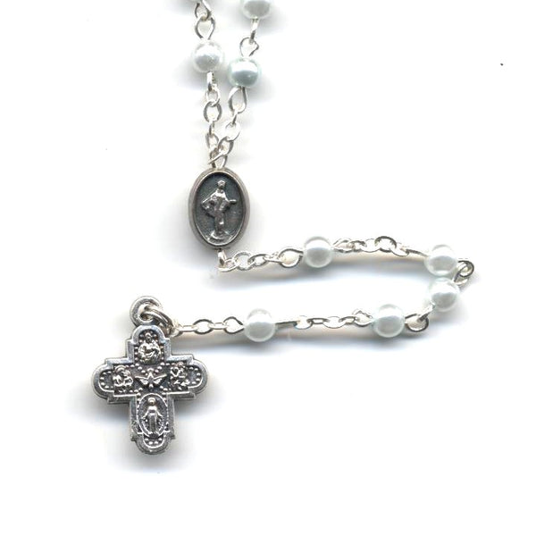 Light Blue Pearl Rosary