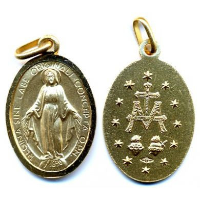 Miraculous Medal in 14K Gold