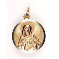 Large 14K Gold Scapular Medal w/Trim