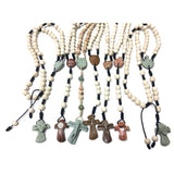 Medjugorje Handcrafted Rock Rosary Necklace