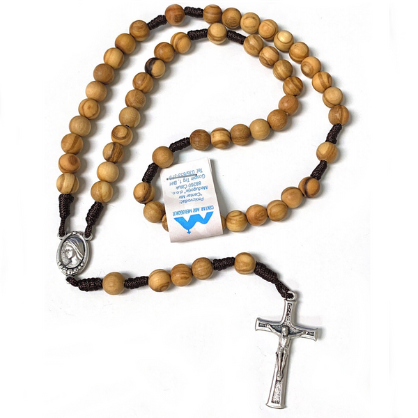 Corded Olivewood Rosary
