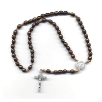 Oval Wood St. Benedict Rosary