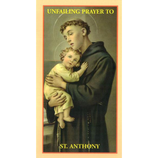 The Unfailing Prayer to St. Anthony Prayer Card