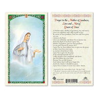 Our Lady of Medjugorje Prayer Card