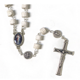 Rock Rosary with Saint Benedict Medals
