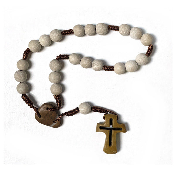 Handcrafted Rock Peace Chaplet