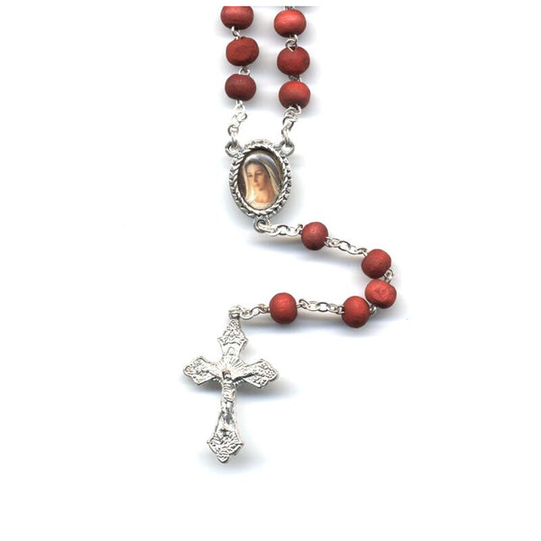 Rose Scented Wood Rosary