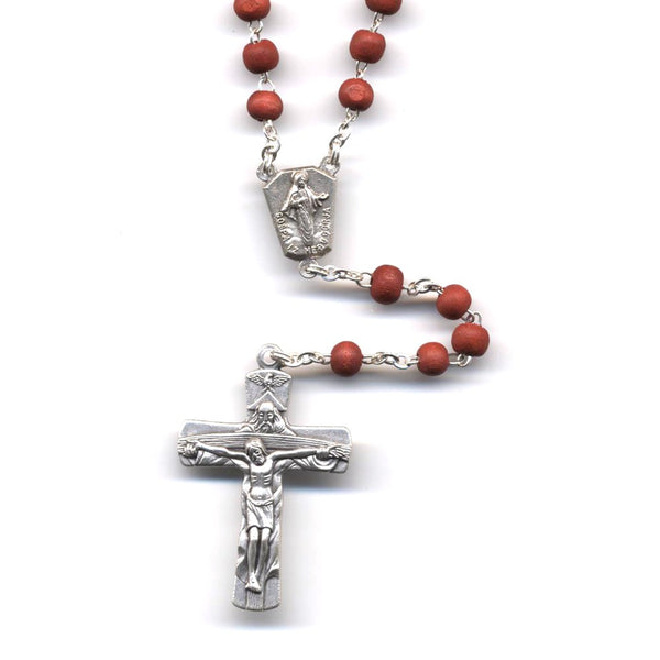 Scented Wood Trinity Crucifix Rosary