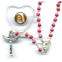 Medjugorje Rose Rosary with Heart Box