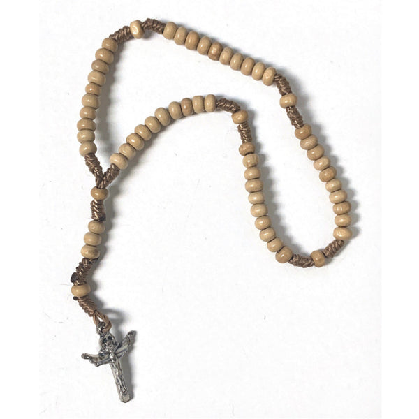 Medjugorje Children's Tan Bead Rosary