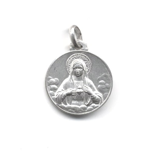 Sterling Silver Immaculate Heart of Mary Medal