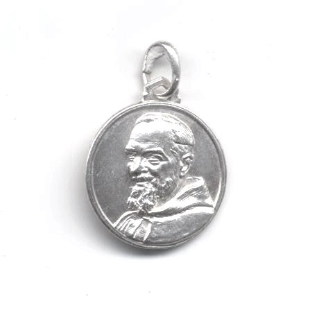 Round Sterling Silver Padre Pio Medal