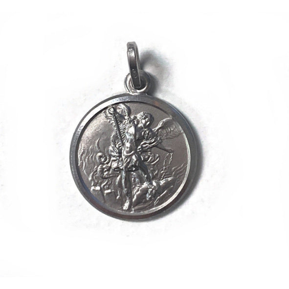 Small St. Michael Medal in Sterling Silver