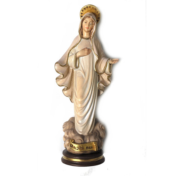 Our Lady of Medjugorje Wood Statue
