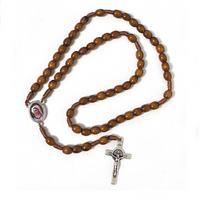 Corded Wood Rosary