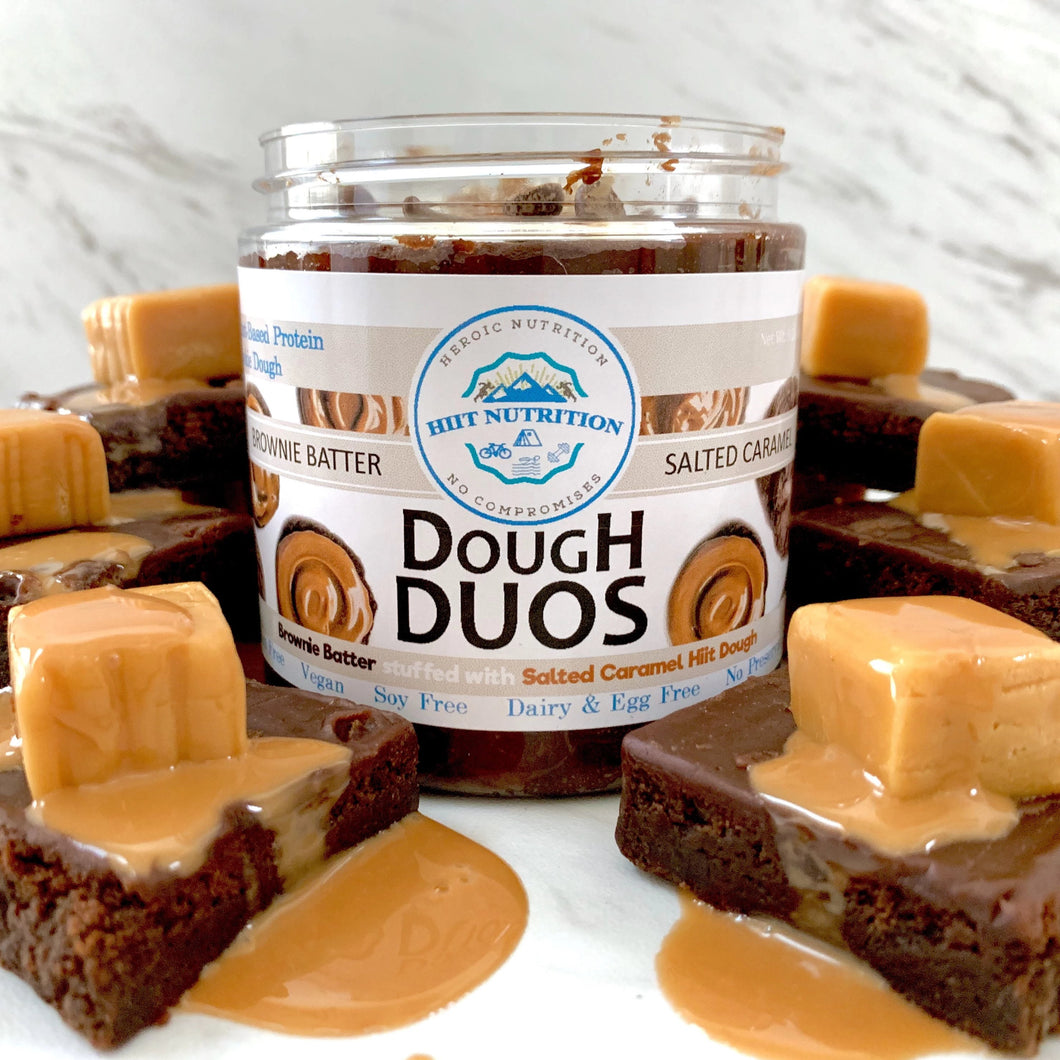 Brownie Batter & Salted Caramel Stuffed Dough Duo