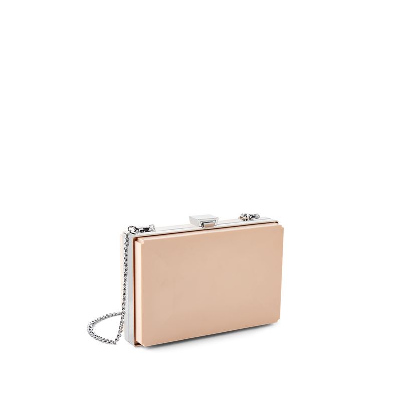 Party Clutch Bag with Silver Chain Strap