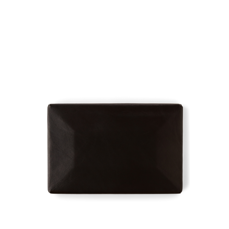 Black Leather Cover for Party Clutch Bag