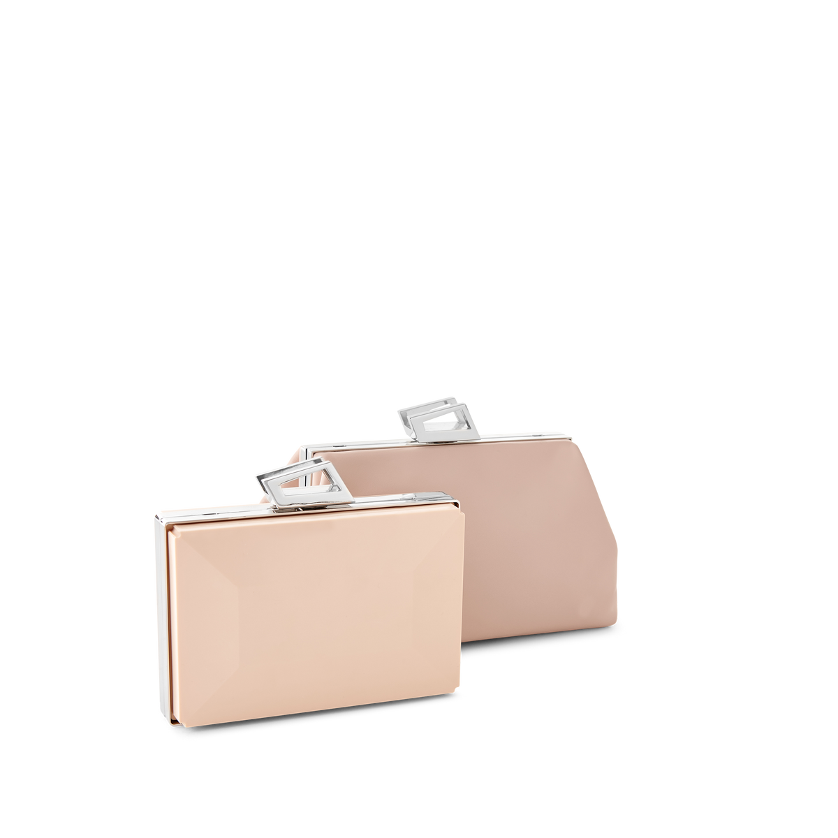 Silver Trapezoid Clasp for Party Clutch Bag & Evening Hand Bag