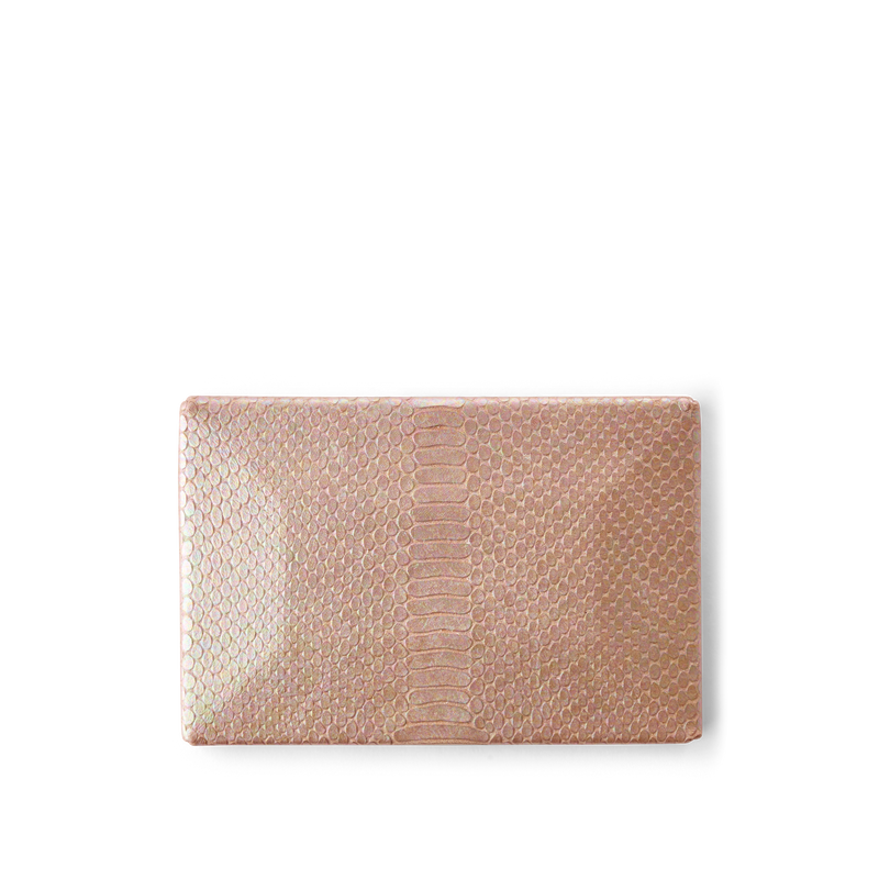 Snakeskin Leather Cover for Party Clutch Bag