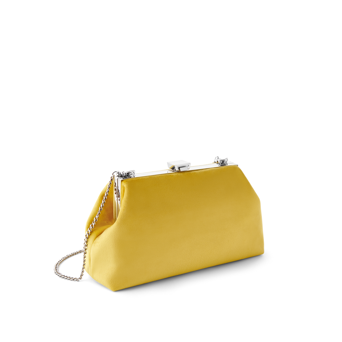 Sunny Velvet Jewel Bag with Silver Chain Strap
